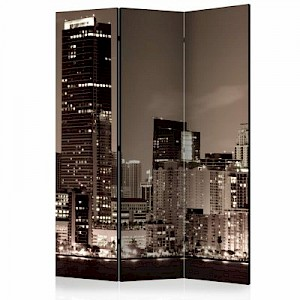 artgeist Paravent Miami in Sepia [Room Dividers] sand Gr. 135 x 172