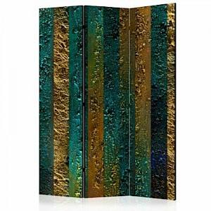 artgeist Paravent Treasures of Atlantis [Room Dividers] gold-kombi Gr. 135 x 172