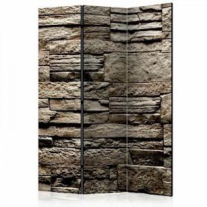 artgeist Paravent Beautiful Brown Stone [Room Dividers] grau Gr. 135 x 172