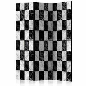 artgeist Paravent Checker [Room Dividers] schwarz/weiß Gr. 135 x 172