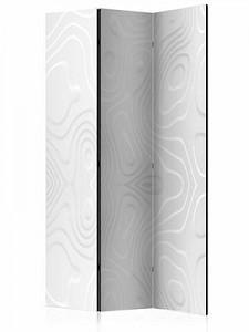 artgeist Paravent Room divider - White waves I schwarz/weiß Gr. 135 x 172