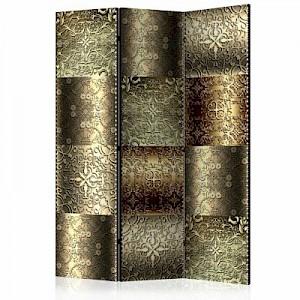 artgeist Paravent Metal Plates [Room Dividers] gold Gr. 135 x 172
