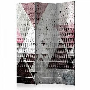 artgeist Paravent Triangles [Room Dividers] mehrfarbig Gr. 135 x 172