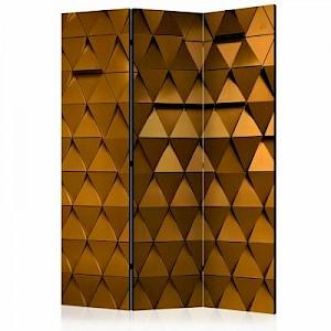 artgeist Paravent Golden Armour [Room Dividers] gold Gr. 135 x 172
