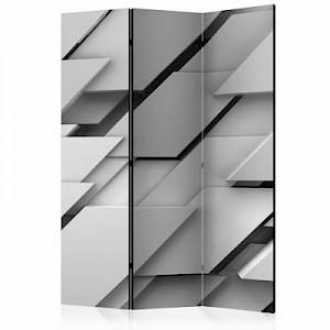 artgeist Paravent The Edge of Gray [Room Dividers] schwarz/weiß Gr. 135 x 172