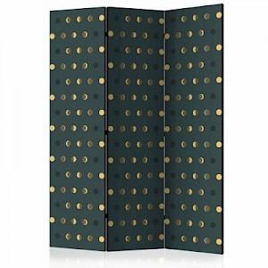 artgeist Paravent Dots [Room Dividers] gelb/grün Gr. 135 x 172