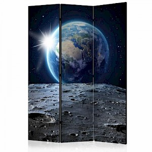 artgeist Paravent View of the Blue Planet [Room Dividers] mehrfarbig Gr. 135 x 172