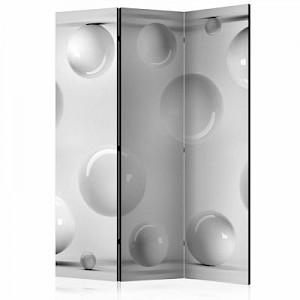 artgeist Paravent Balls [Room Dividers] schwarz/weiß Gr. 135 x 172