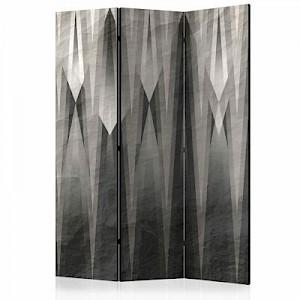artgeist Paravent Grey Citadel [Room Dividers] schwarz/weiß Gr. 135 x 172